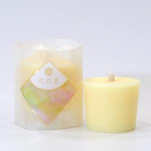 和ろうそく「花灯窓 望」収穫 柑橘の香り